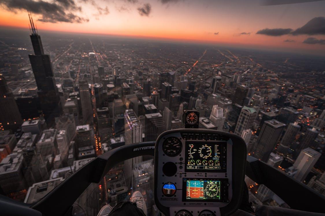 alba, aviazione, cielo