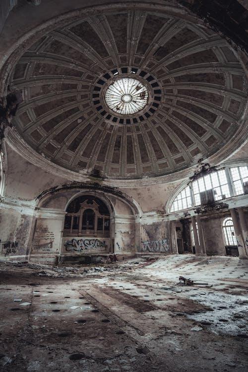 abandonado, adentro, antiguo