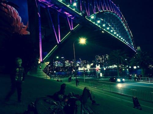 Free stock photo of Sydney Harbour Bridge night, vivid