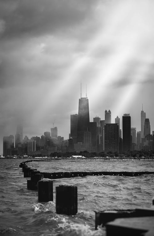 Foto stok gratis Arsitektur, bangunan, chicago, cityscape