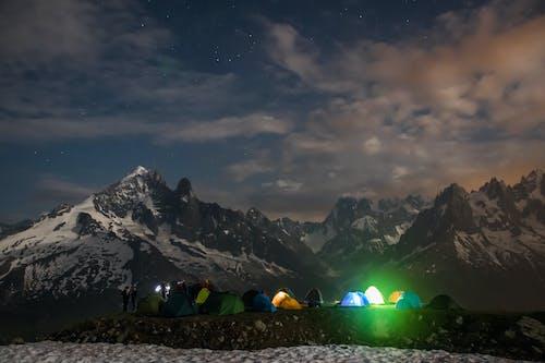 Free stock photo of alps, camping, chamonix, france