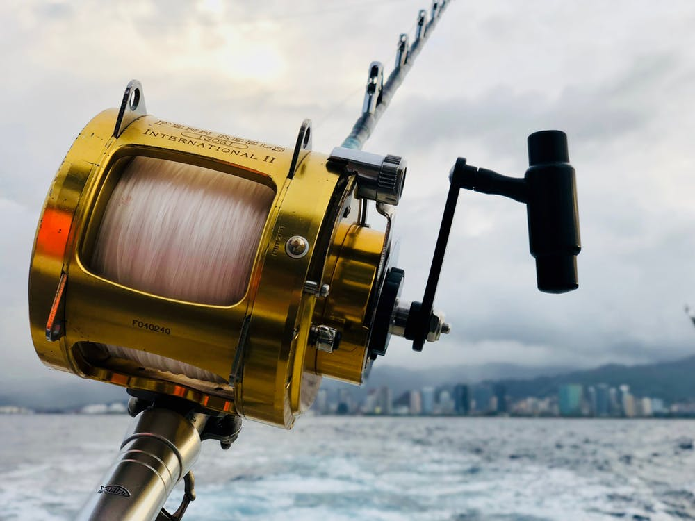 Selective Focus of Brown Fishing Reel