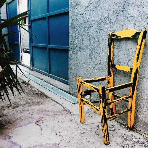 Free stock photo of chair, urban, urban scene, yellow