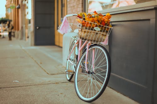 คลังภาพถ่ายฟรี ของ จักรยาน, ตะกร้า, ทางเท้า, ทาโคมาวอชิงตัน