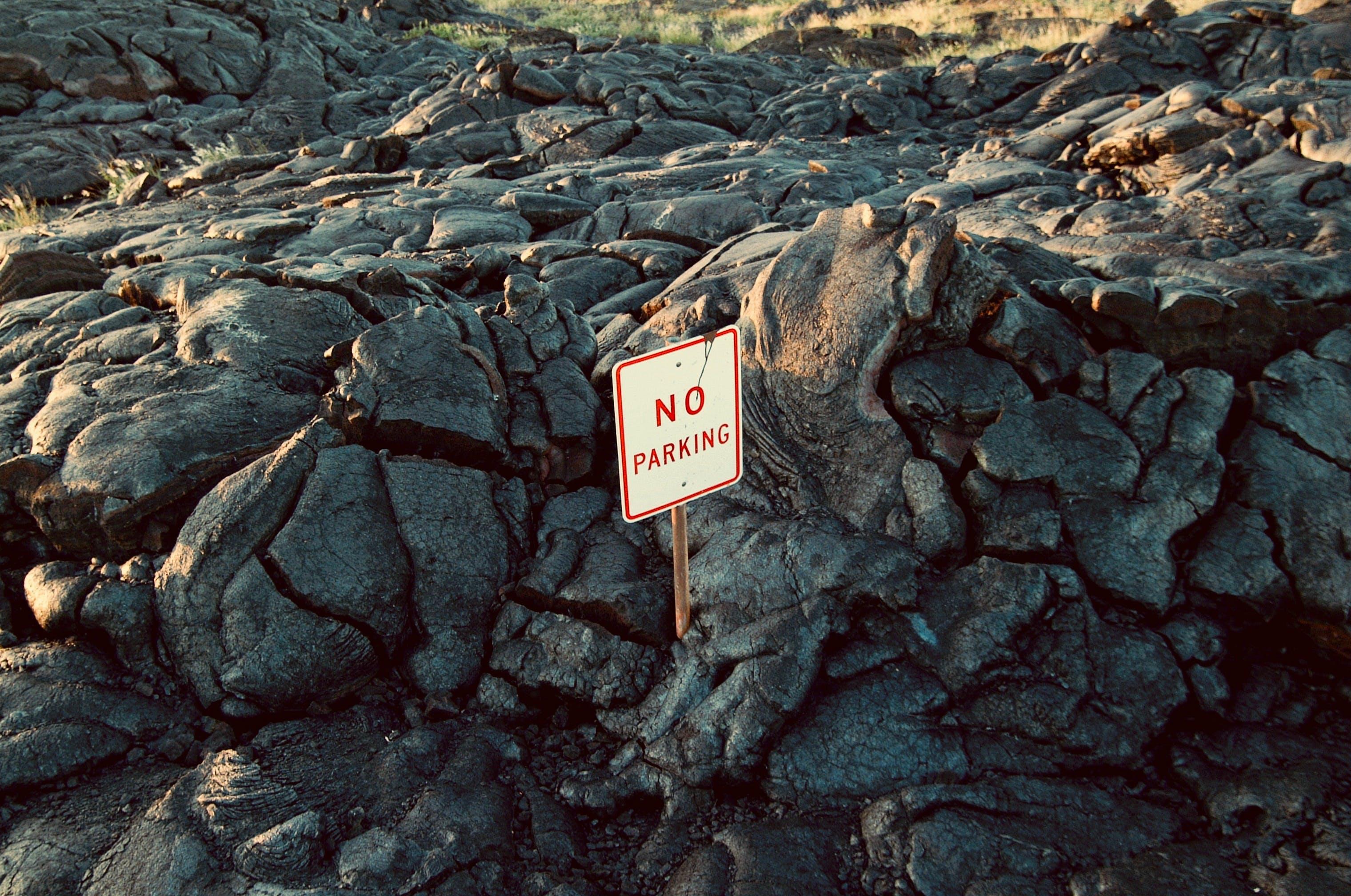 Free stock photo of funny, hawaii, lava rock, no parking