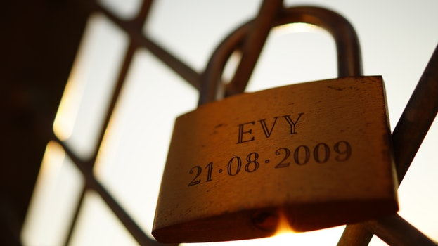Free stock photo of date, numbers, padlock, iron
