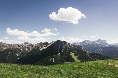 Free stock photo of alps, clouds, daytime, grass