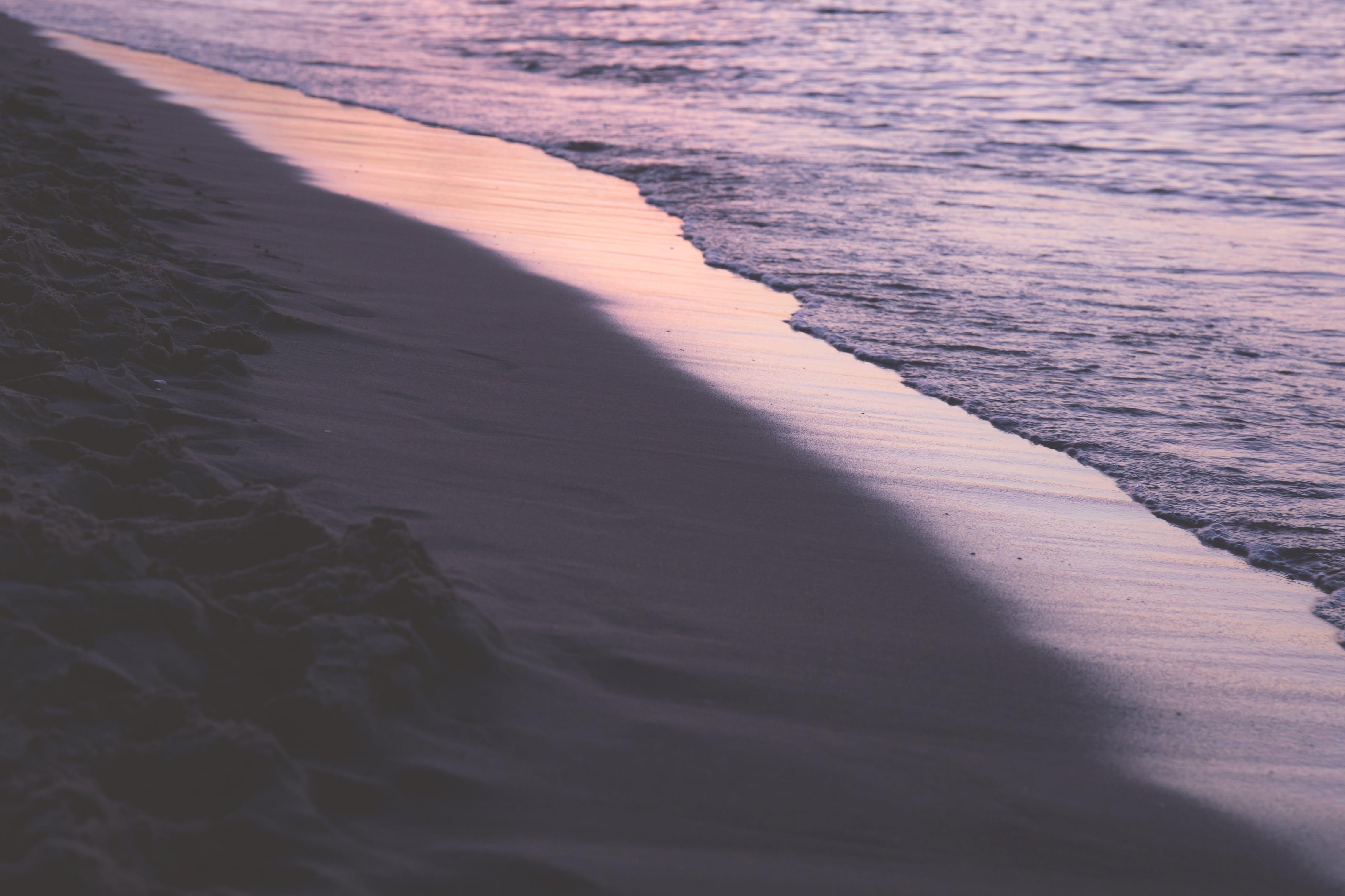 afterglow, bay, beach