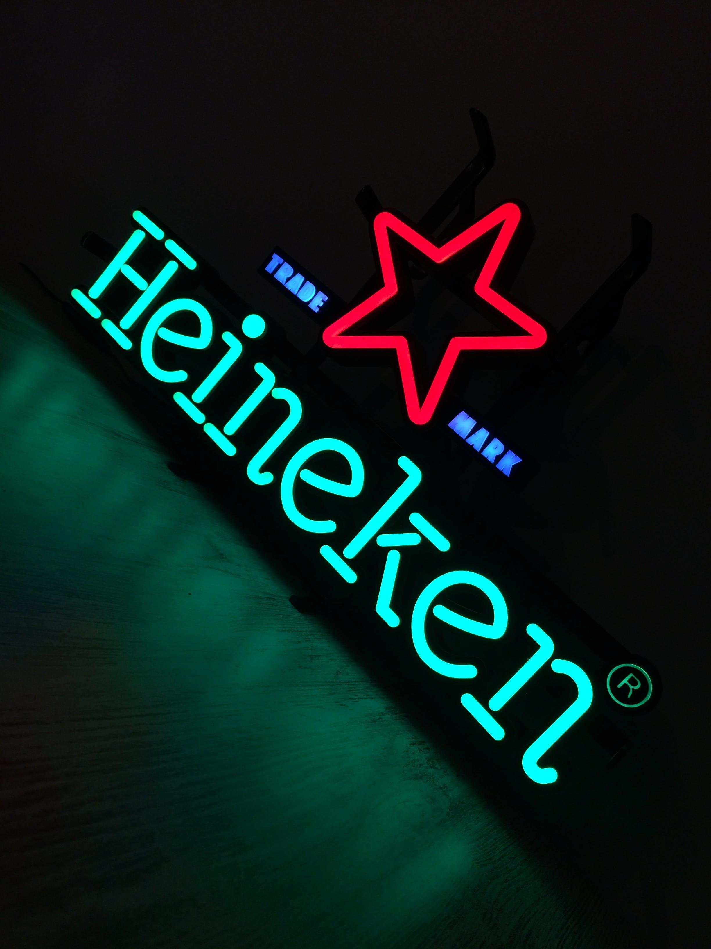 Free stock photo of beer, Heineken, HeinekenLight, light