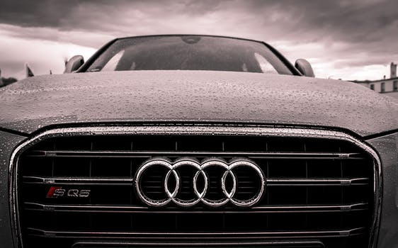 Audi Black And Chrome Grille