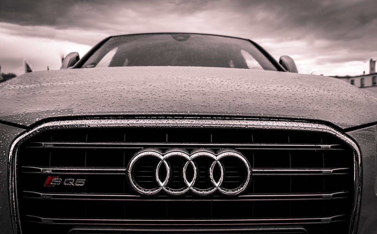 audi, bumper, chrome