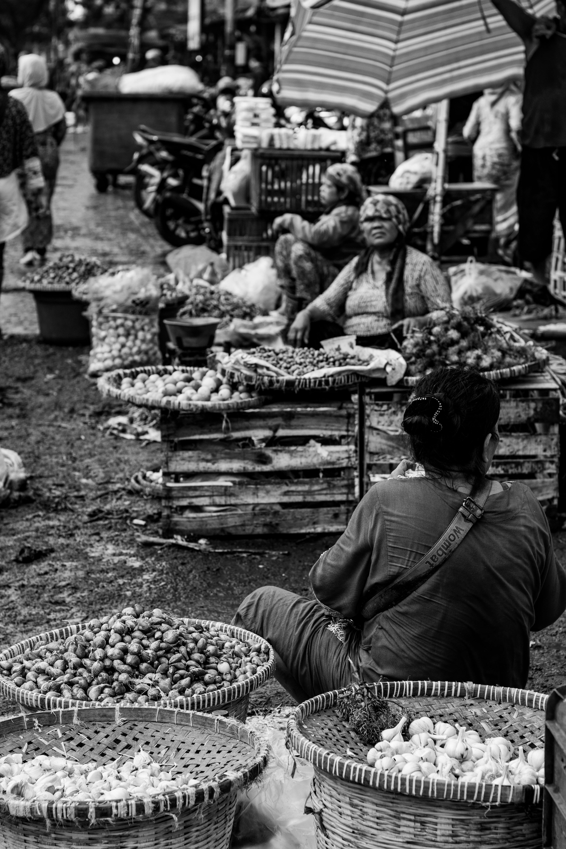 Free stock photo of indonesia, keputran, market, seller