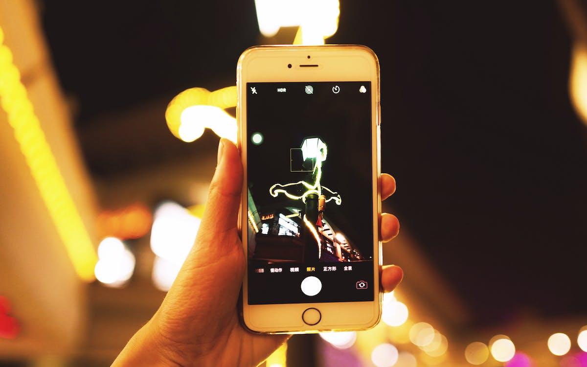 ecran, fotografie de aproape, iphone