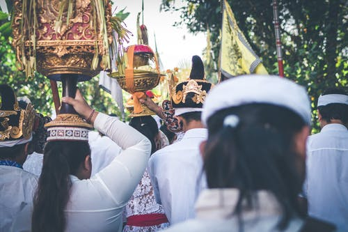 People In Procession Celebrating Nyepi