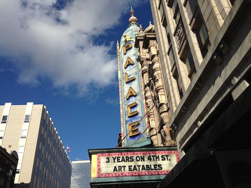 Free stock photo of architecture, marquee, Palace Theater