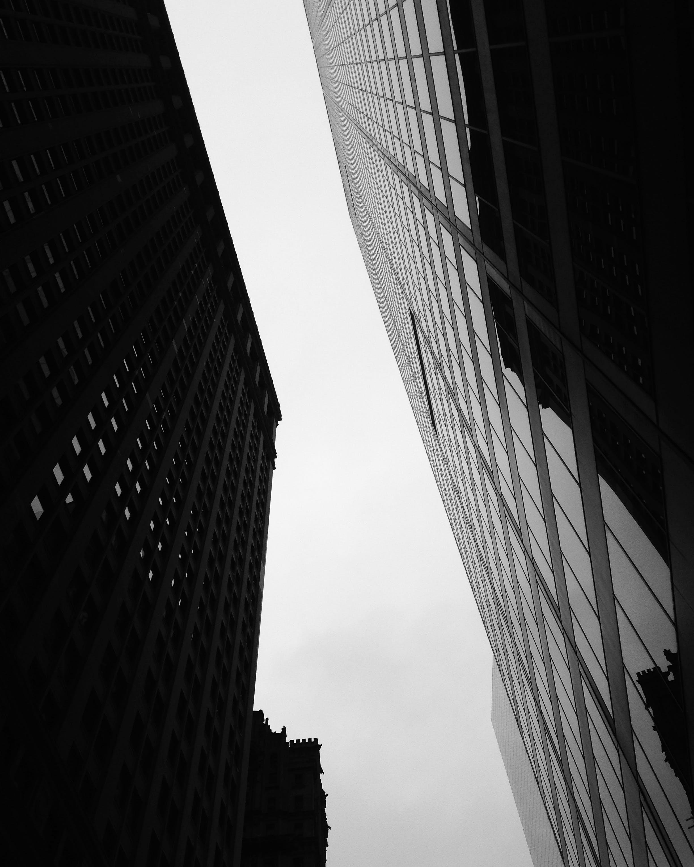 Kostenloses Stock Foto zu einfarbig, skyline