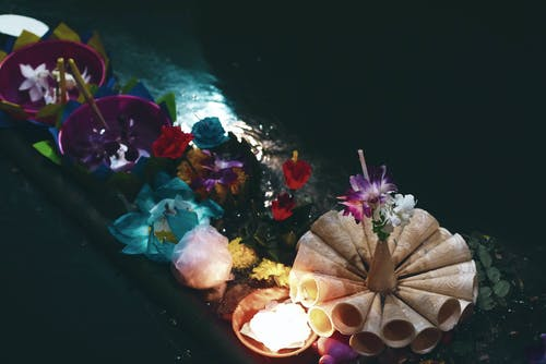 Free stock photo of loy kratong festival