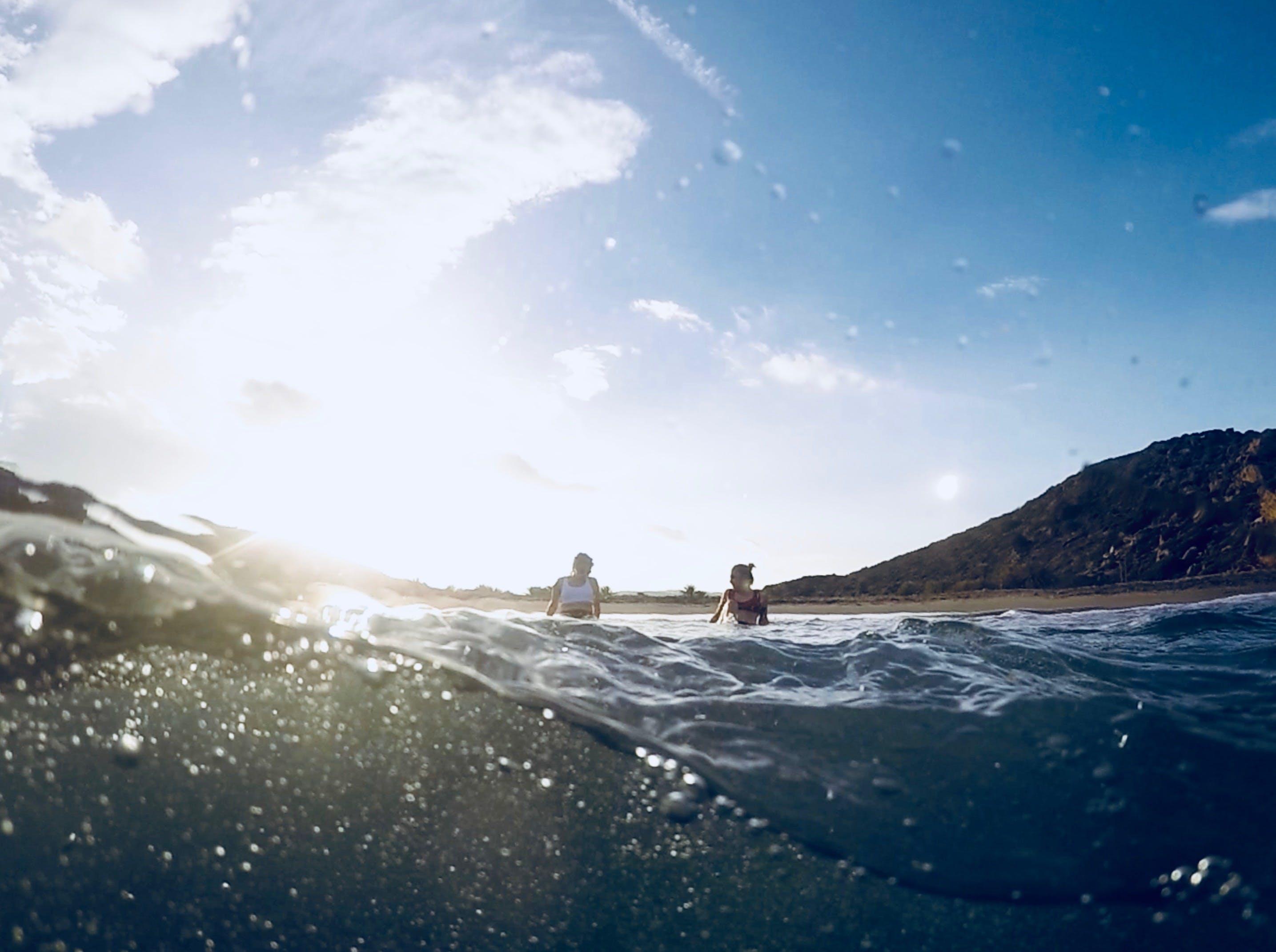 Gratis lagerfoto af bjerg, bølger, dagslys, gopro