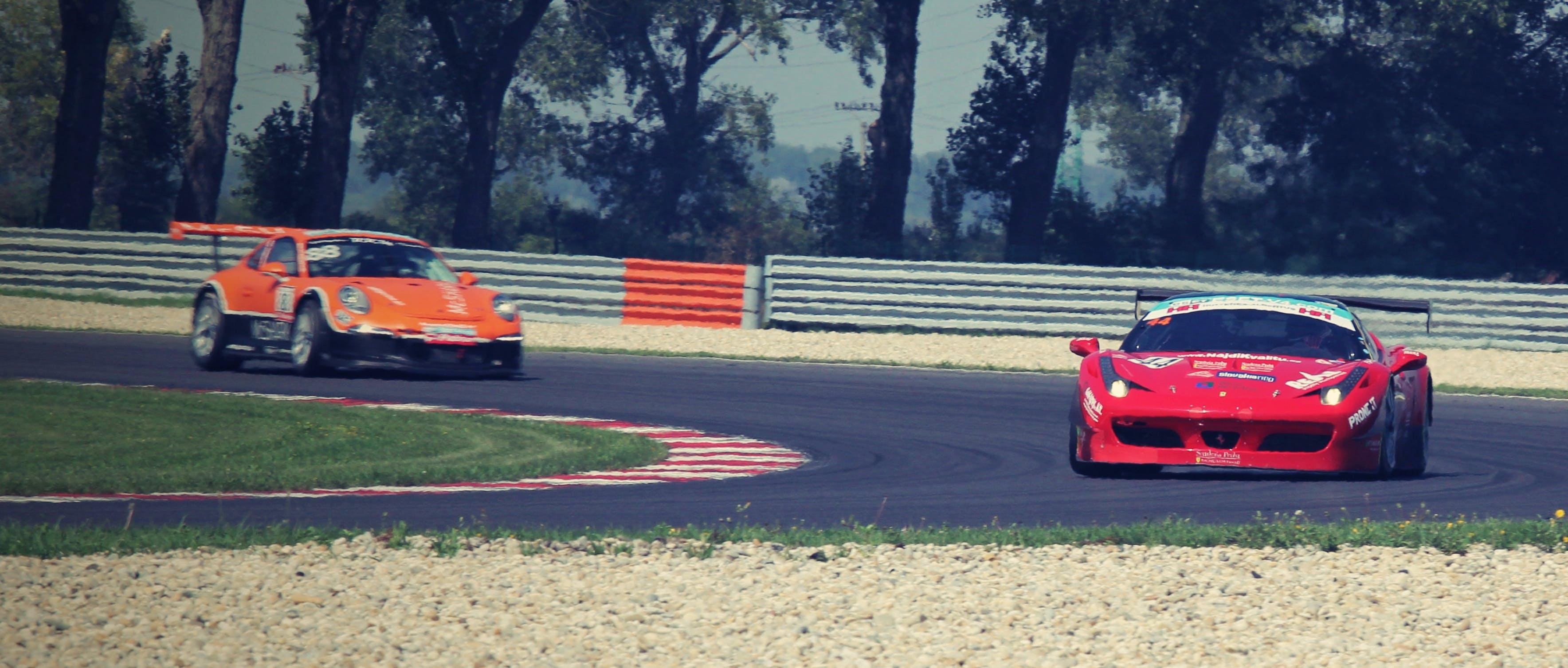 Free stock photo of porsche, race, motor sport, Ferrari 458 Italia