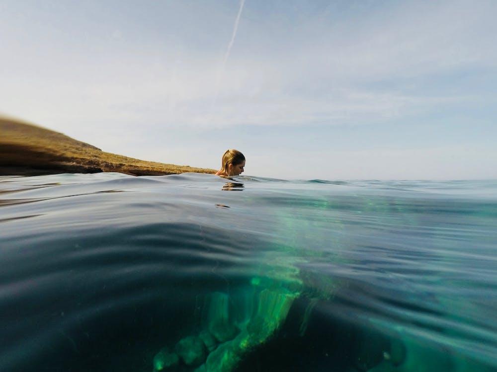 čeření, léto, moře