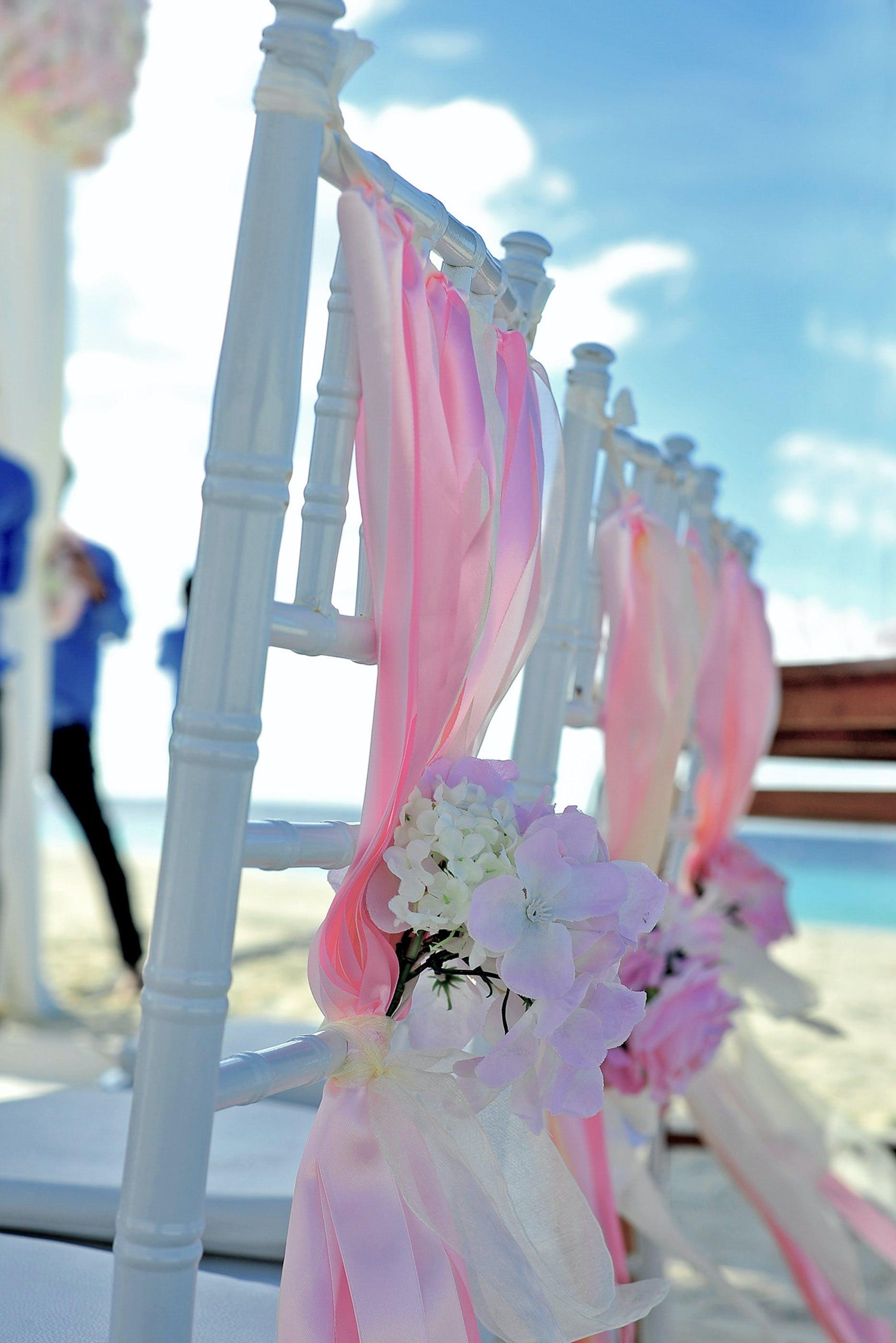 beach, chairs, colourful