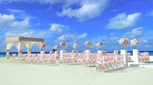 Immagine gratuita di acqua, Allestimento di matrimonio, arredamento, cielo azzurro