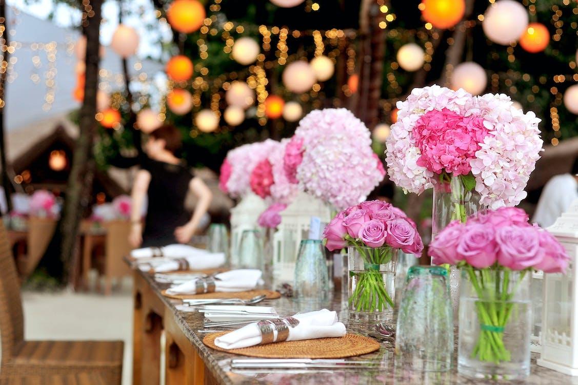 buổi tiệc, cái bình hoa, cắm hoa