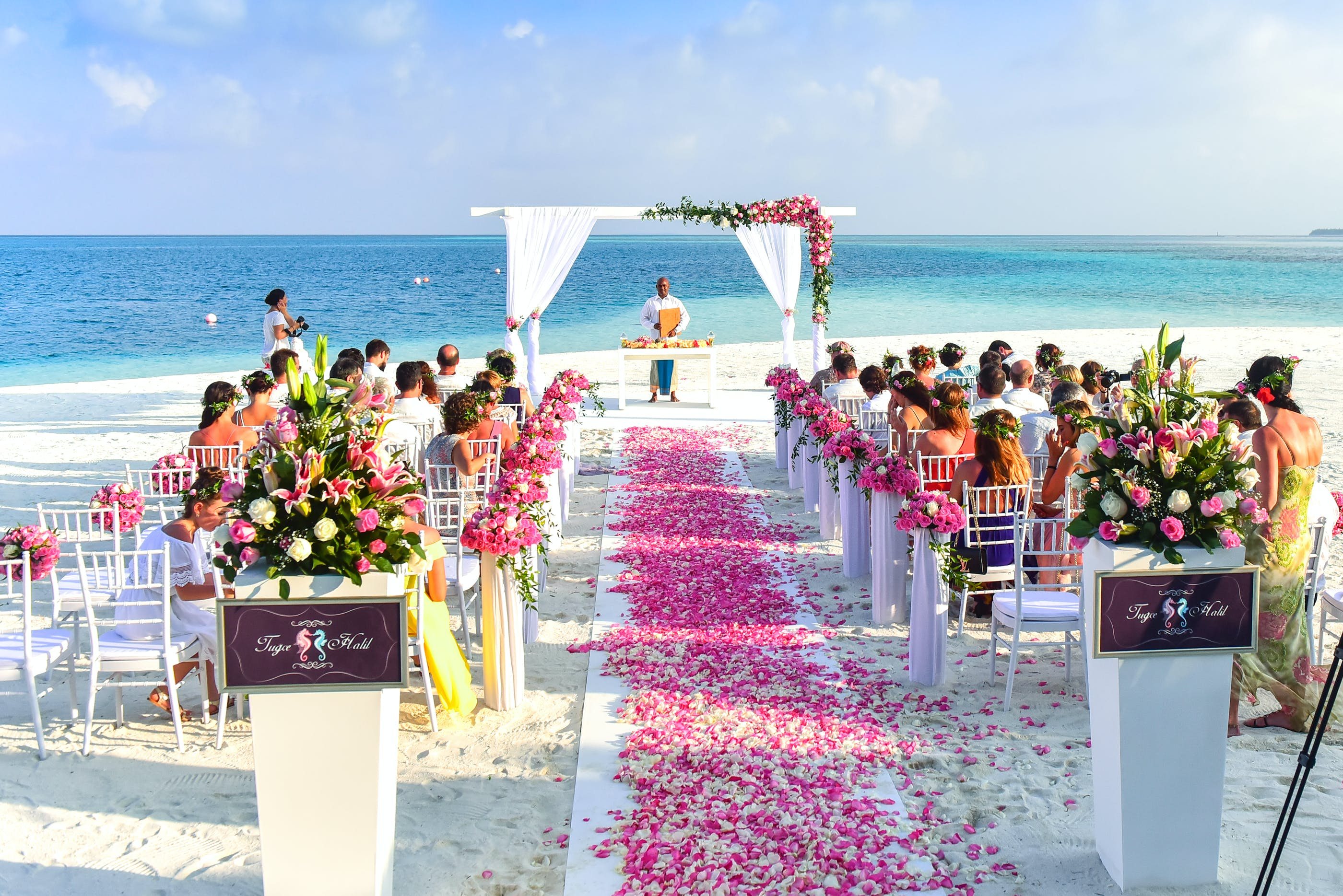 Beach Wedding Ceremony during Daytime