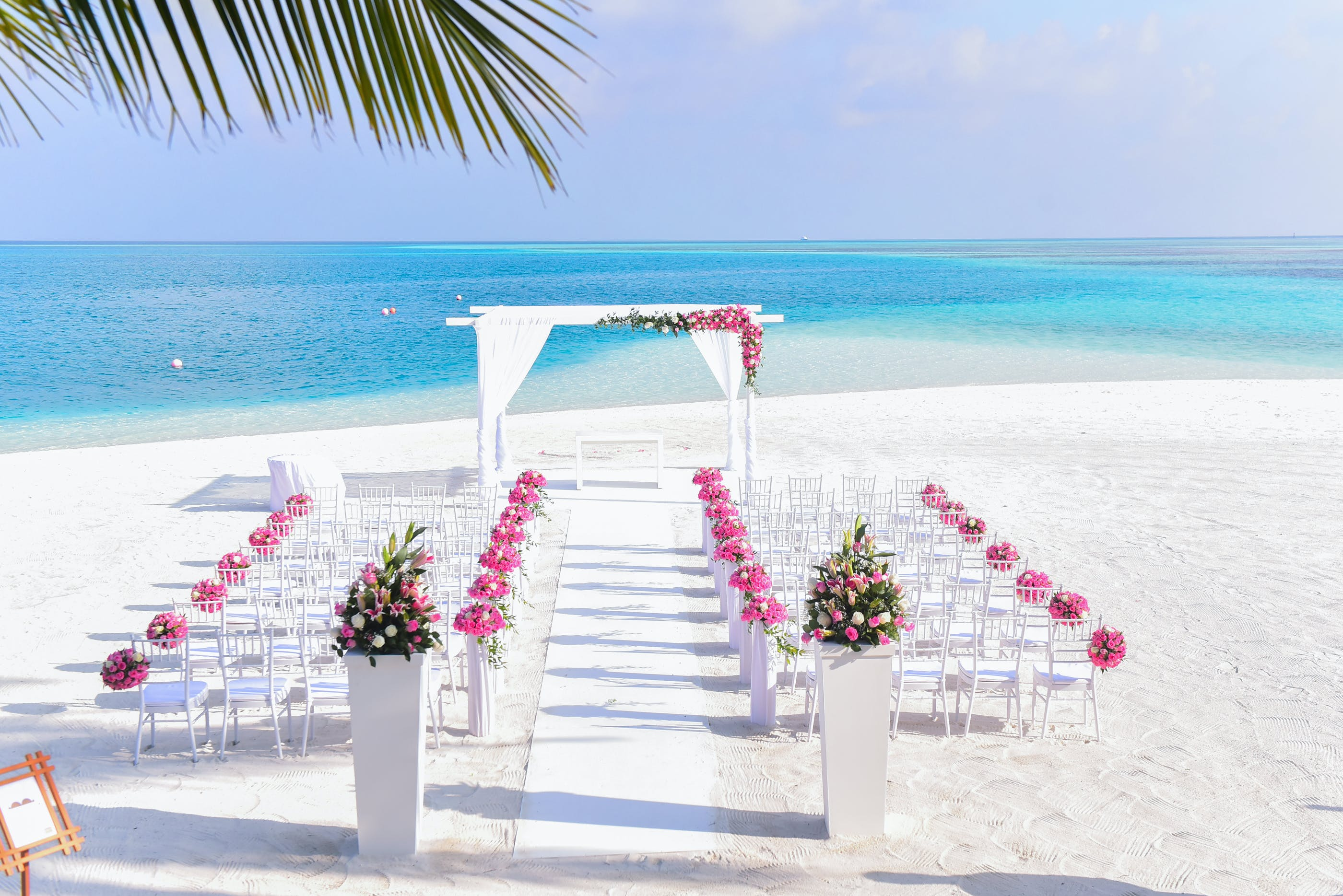 beach, beach wedding, chairs