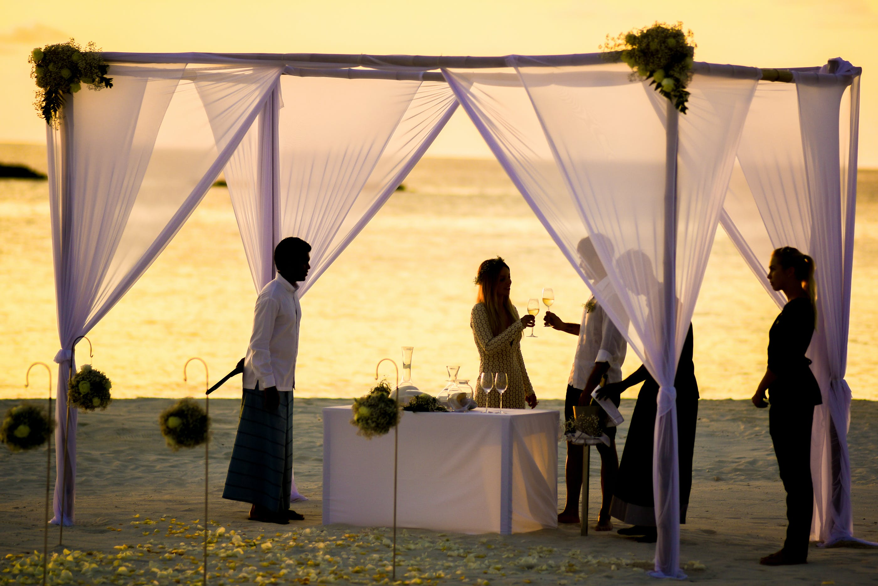Beach Wedding during Sunset