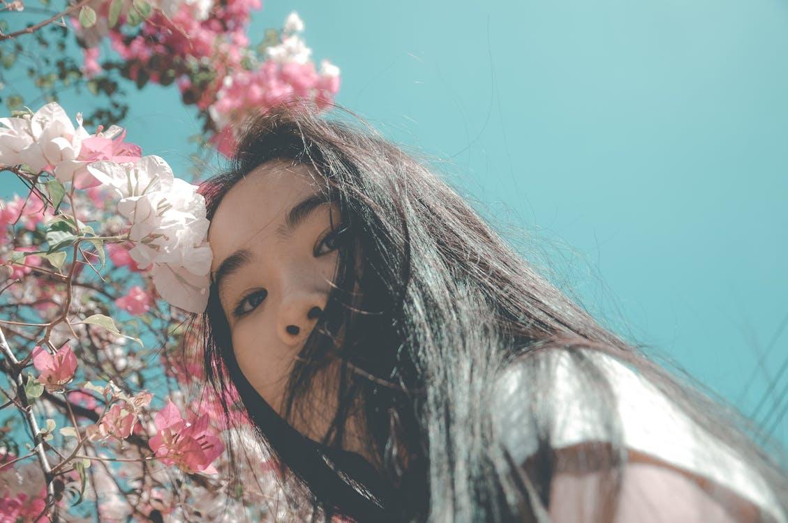 азіатська жінка, вродлива, вродливий