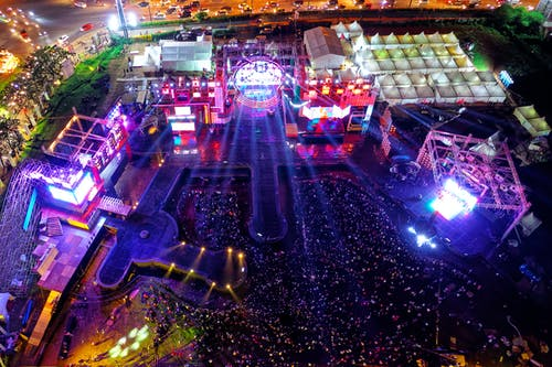 Aerial View of Concert on Grounds