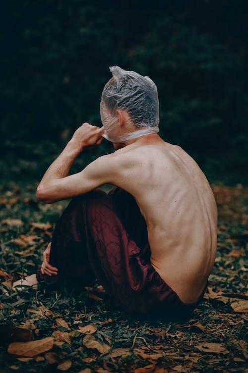 Základová fotografie zdarma na téma dřevo, muž, nahoře bez, osoba