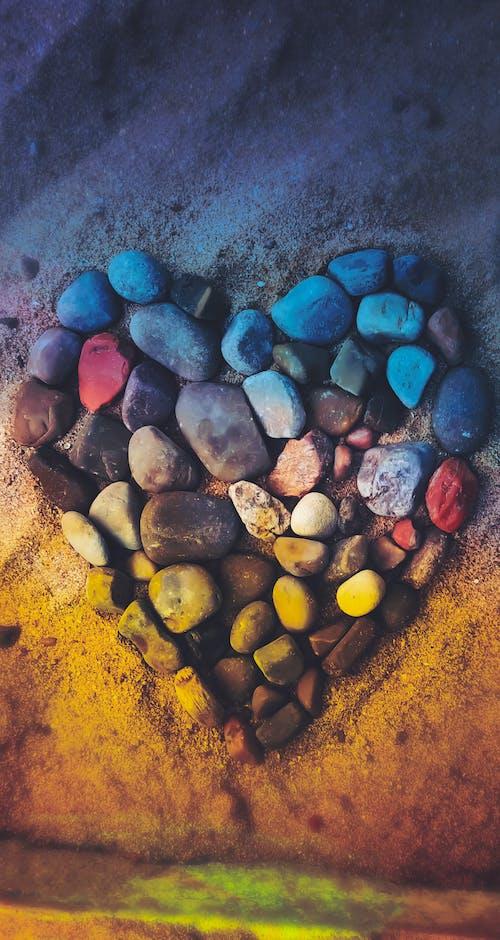Aşk, değerli taş, HD duvar kağıdı, kalp içeren Ücretsiz stok fotoğraf