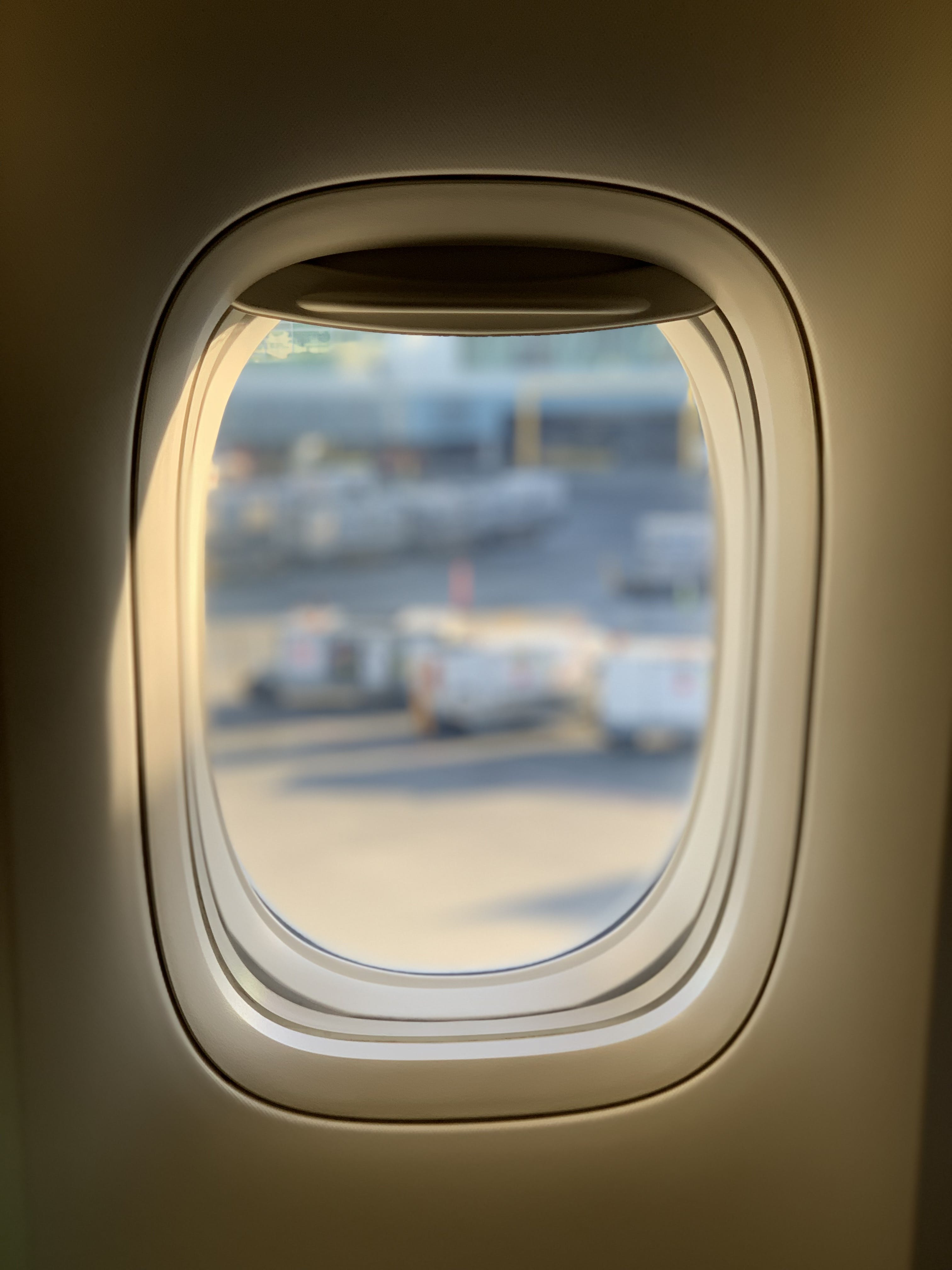 Opened Window of Airliner