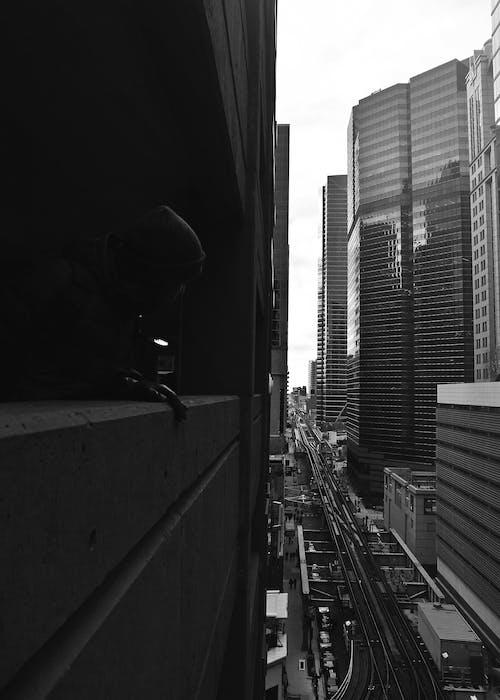 Základová fotografie zdarma na téma centrum města, černobílá, chicago, chicago fotografie