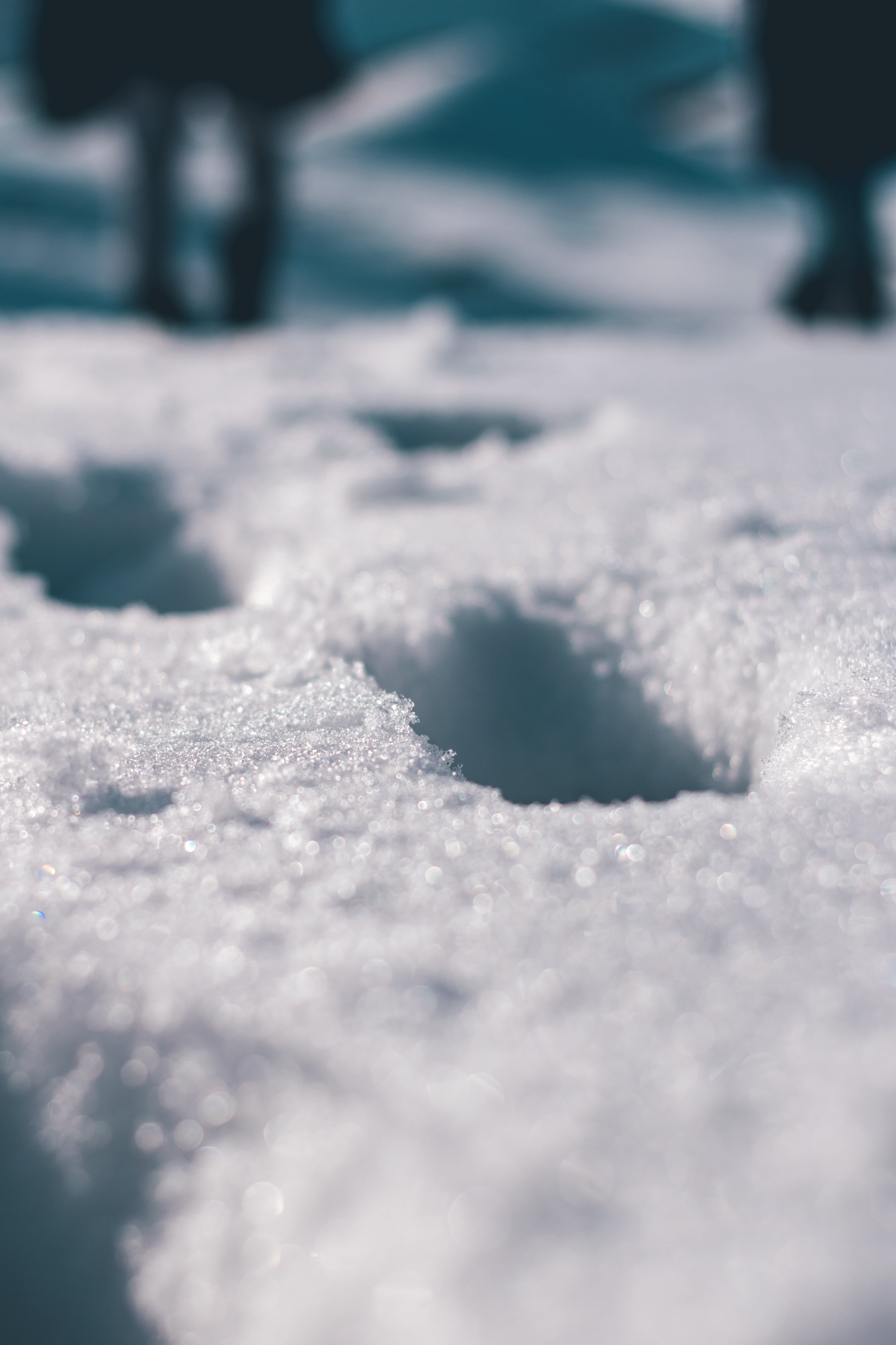 Close View Of Snow