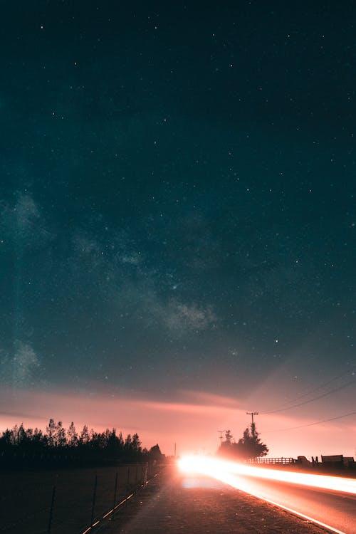Gratis lagerfoto af aften, astronomi, farver, galakse