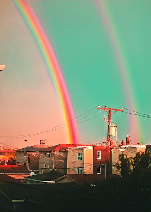 Základová fotografie zdarma na téma barevný, barva, barvy duhy, duha