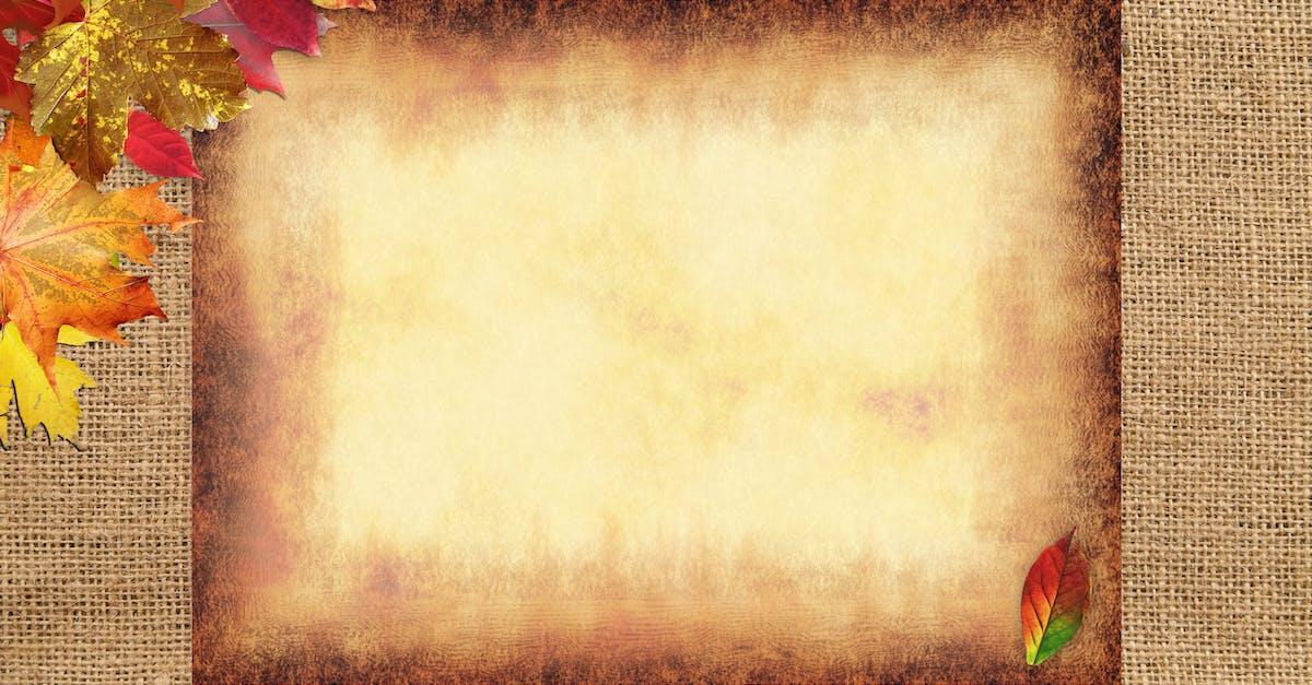 Открытка для фотошопа осень