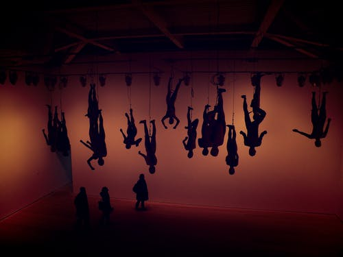 人, 光, 創作的, 博物館 的 免费素材照片