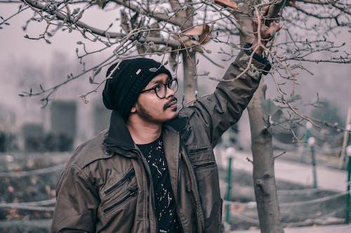 Δωρεάν στοκ φωτογραφιών με άνδρας, δέντρο, κράτημα, κρύο