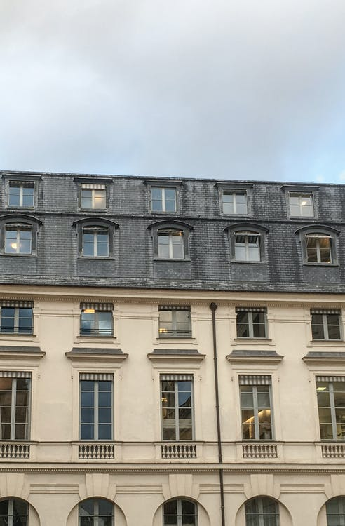 ciutat, finestres, parís