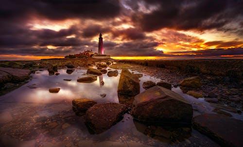 Ingyenes stockfotó aranyóra, ég, felhők, naplemente témában