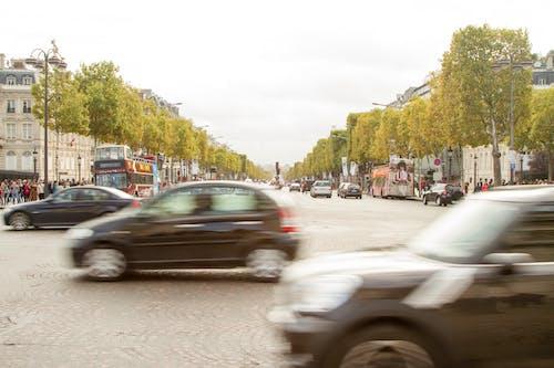 Foto d'estoc gratuïta de carrer molt transitat, champ elysees, ocupat, parís