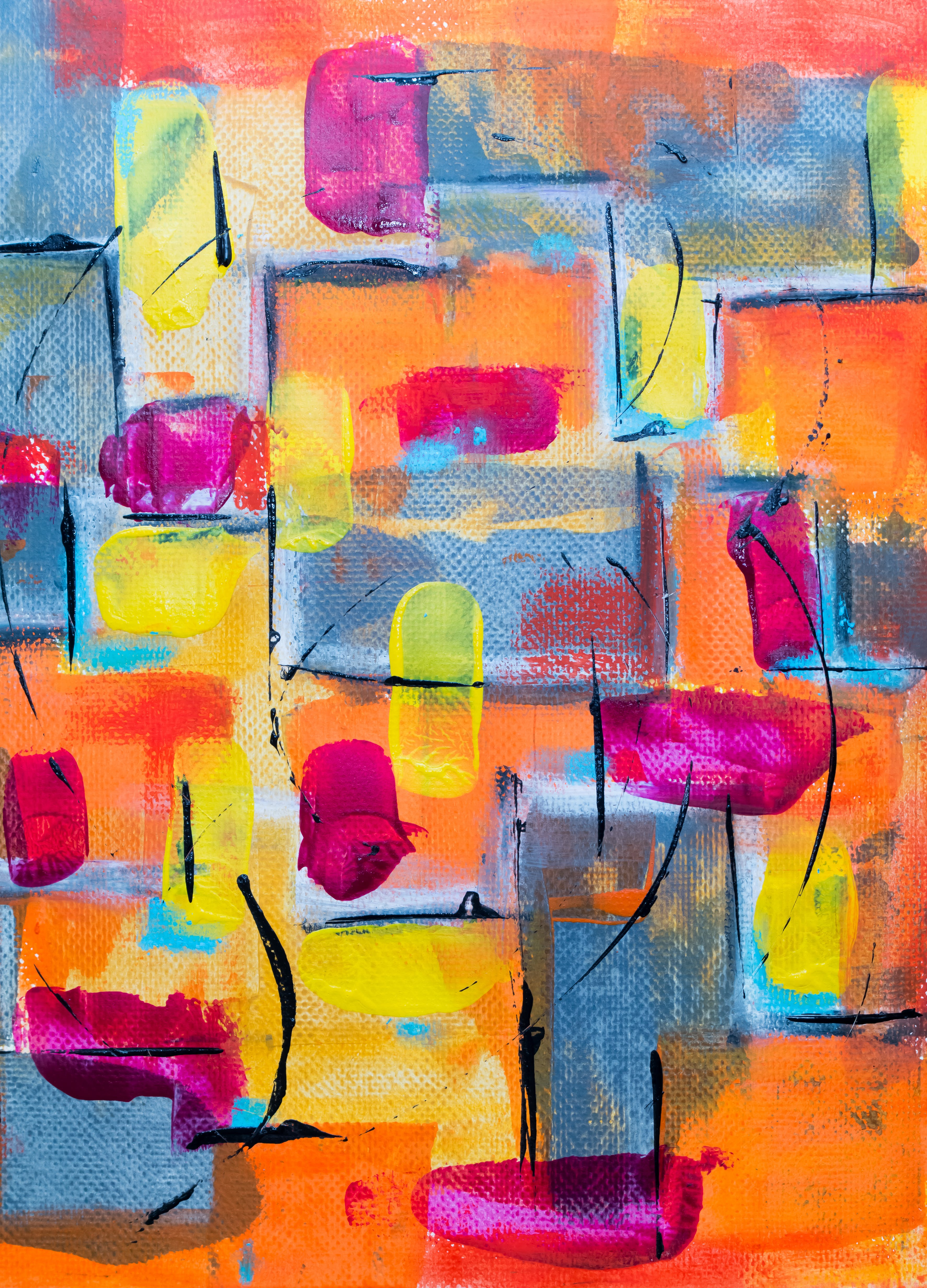 Photo Of Multi-colored Abstract Painting