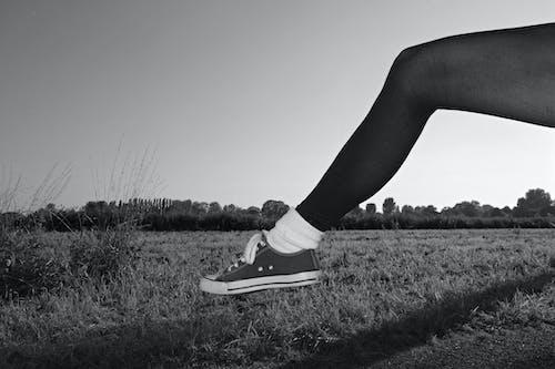 Бесплатное стоковое фото с женская нога, женщина, колготки, конечность