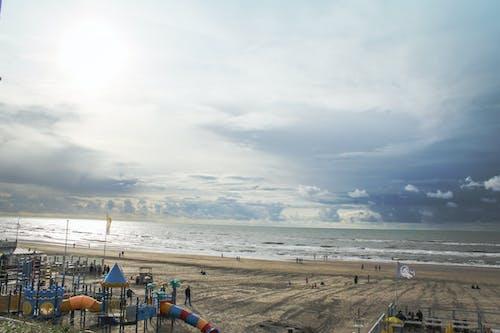 Ingyenes stockfotó felhős ég, homok, kék vizek, seabeach témában
