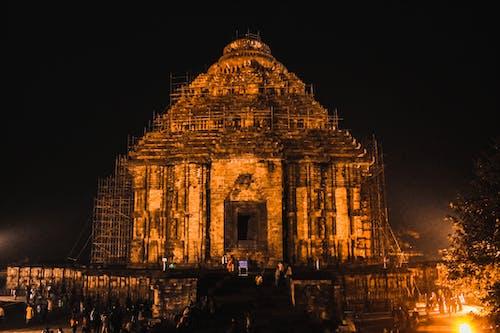 4k duvar kağıdı, gece, güneş tapınağı, Hindistan içeren Ücretsiz stok fotoğraf