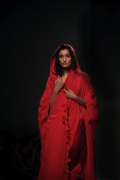 Woman Wearing Red Robe